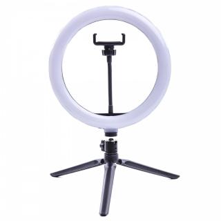 Кольцевая лампа 26 см. с настольным штативом