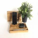 Деревянный чехол для iPhone Xs органайзер.