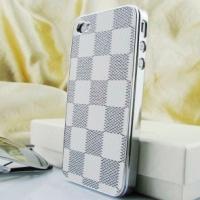 "Чехол L.V.  для iPhone 4 / 4S кожа "" клетка """