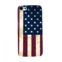 Накладка чехол Американский флаг для Apple iPhone 5/5S/SE