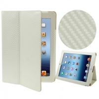 Чехол книжка Углеводородный карбоновый для Apple iPad 2 / 3 / 4