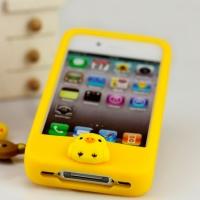 """Силиконовый чехол """"Цыпленок"""" для iPhone 4"""