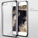 """Силиконовый чехол с боковыми """"хромированными частями"""" для Apple iPhone 6/6S"""