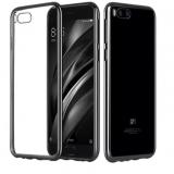 """Силиконовый прозрачный чехол """"с хромированными боковыми частями"""" для Xiaomi Mi 6"""