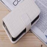 """Кожаный чехол книжка """"Крокодил"""" для iPhone 4 / 4S"""