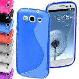 """Селиконовый чехол (TPU) для Samsung Galaxy S3 i9300 """"S""""-образный"""