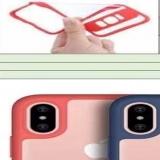 Тонкий бампер с прозрачной крышкой для iPhone X (с окантовкой камеры)