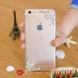 Силиконовый чехол со стразами и жемчугом для iPhone 5/5S