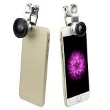 "Объектив 3 в 1 "" Прищепка "" ( Fish eye, широкий угол , макро ) Apple / Samsung"