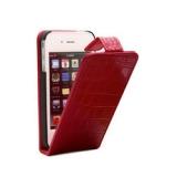 Раскладной кожаный чехол Крокодил для iPhone 5/5S