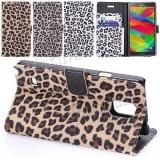 Раскладной чехол книжка для Samsung Galaxy Note 4 N9100 Леопард