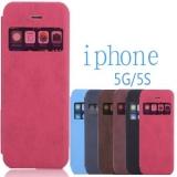 "Чехол с ""окошком"" для Apple iPhone 5/5s из кожи PU"